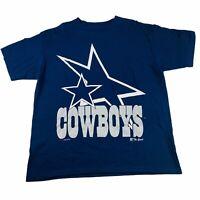 Vintage 1993 Mens Dallas Cowboys T Shirt NFL  - The Game - Size XL