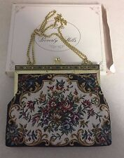 Vintage RONTE of BEVERLY HILLS TAPESTRY bag EVENING Purse floral