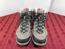 Hi-Tec Bandera Mid Hiking Trail  Brown Suede Waterproof Boots Women Size 10