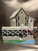 """RETIRED & RARE Shelia's Collectibles Wood """"GLADE CREEK GRIST MILL"""" W. VA SIGNED!"""