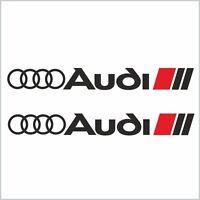 2x  AUDI S-line Aufkleber Car Window Bumper Sticker Vinil 203