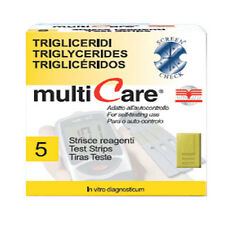 MULTICARE TRIGLICERIDI 5 STRISCE REATTIVE