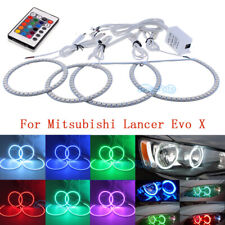 4x For Mitsubishi Lancer 2008-2015 SMD RGB Demon Angel Eye Halo Ring LED Light
