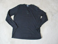 VINTAGE Ralph Lauren Polo Long Sleeve Shirt Adult Extra Large Black Spell Out *