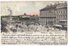 ANTIQUE POSTCARD Vienna Austria Wien II Praterstrasse Tegetthoff Monument city