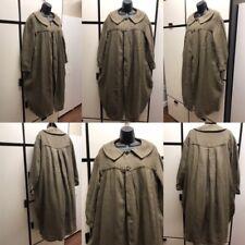 Kapital Japan S Linen Olive Caper Collar Pleated Lightweight Duster Robe Garment