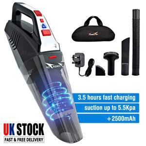 Portable Handheld Vacuum Hand Vacuum Cordless Wet Dry Car Auto Home Clean 5.5Kpa