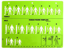 Forensic - Crime Scene Examination: Human Figure Template TMP-HU