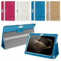 "Universal Folio Leather Stand Cover Case For 10 10.1"" Inch Android Tablet PC UK"