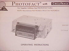 1970 MERCURY COUGAR XR-7 XR7 CONVERTIBLE 8-TRACK/AM RADIO SERVICE SHOP MANUAL 70