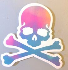 Toxic Skull in Watercolour Sticker Skateboard Guitar Bike Car Vinyl Laptop Decal