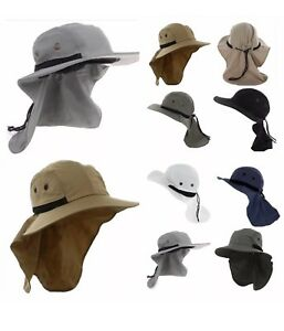 1-4 Unisex UV Protection Boonie HAT Outdoor Brim Neck Cover Bucket Sun Flap Cap