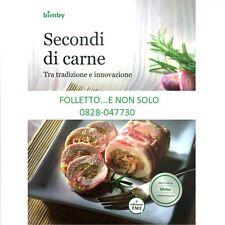 """Libro Ricettario Bimby TM5 Nuovo e Originale Vorwerk """"SECONDI DI CARNE,"""