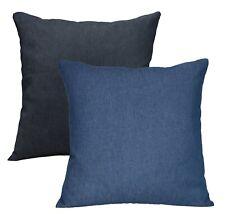 Flor de Arte de color azul claro algodón cubierta Cojín de tela de mezclilla/Funda De Almohada
