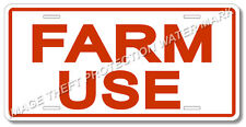 """FARM USE Vehicle Tractor License Plate 100% Aluminum New 6"""" x 12"""" Will Not Rust"""