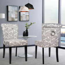 Retro Dinning Chairs 2/4Pcs Armless Side Chairs Living Room Breakfast Cafe Chair