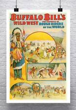 Buffalo Bill's Wild West Show Vintage Poster Canvas Giclee Print 24x34 in.