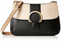Calvin Klein Malena Pebble Crossbody Black and Tan NWT