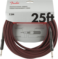 Genuine Fender Professional Series Guitar/Instrument Cable - RED TWEED - 25' ft