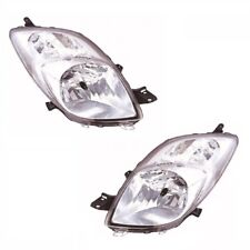 For Toyota Yaris Mk2 2006-6/2009 Headlights Headlamps 1 Pair O/s & N/s