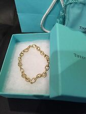 Tiffany & Co. 18K Gold Oval Link Bracelet Medium New