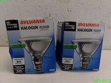 LOT OF (2) Sylvania 60w PAR38 Halogen 25° Narrow Flood Light Bulb - NEW