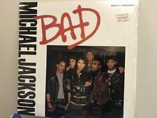 1st pressing RARE LP Michael Jackson BAD Maxi Single 5 Versions