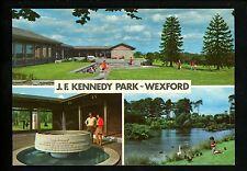 Presidential political Vintage postcard JFK John Kennedy Park Wexford, Ireland