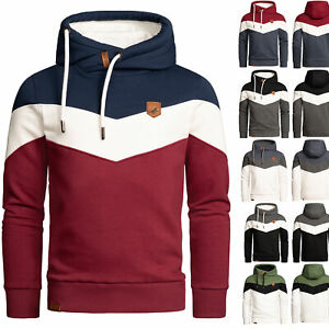 Herren Basic Kapuzenpullover Sweatjacke Pullover Hoodie Sweatshirt 4052