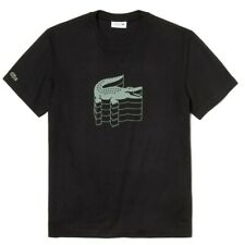 LACOSTE Pique Crocodile T-Shirt | Black Green All Sizes | BNWT RRP £65