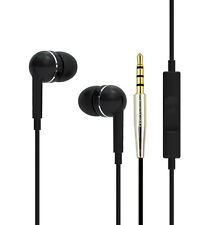 IN EAR HEADPHONES WITH MIC EXTRA BASS for IPHONE IPOD SAMSUNG HTC NOKIA MP3 ETC