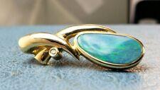 14k Whitney Kelly (WK) Diamond Fire Opal Pendant Rare