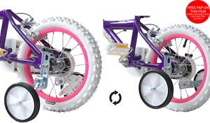 "Folding Training Wheels Balance Stabilisers for 12-20"" Wheel Bikes Kids Flip Up"