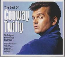 THE BEST OF CONWAY TWITTY - 50 ORIGINAL RECORDINGS (NEW SEALED 2CD)