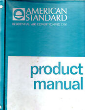 1970 American Standard Product Manual Notebook-Residential Air Conditioning-Rare