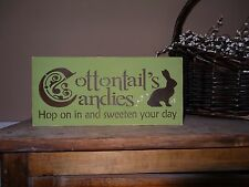 Easter Cottontail's Candies Peter Rabbit Bunny Shelf Sitter Sign Decoration