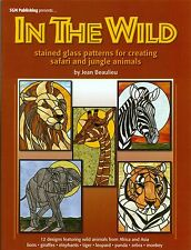 In The Wild Stained Glass Pattern Book, Animals, Giraffe Elephant Tiger Lion...