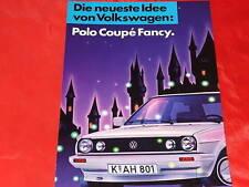 """VW Polo II Typ 86C Coupe """"Fancy"""" Sondermodell Prospekt Brochure von 1987"""