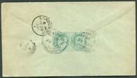 BRITISH INDIA TO GREAT BRITAIN Cover 1908 VF