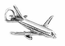 STERLING SILVER LARGE AIRPLANE CHARM/PENDANT