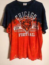 Nfl Team Apparel Chicago Bears T-Shirt Size Xl Tie Dye Dark Blue/Orange