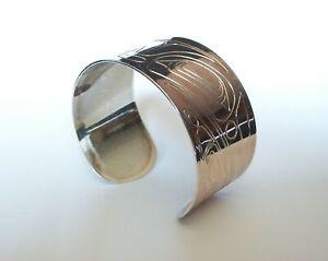 COREY W. MORAES - Tsimshian - White Metal Raven Cuff Bracelet - Canada - C. 2000