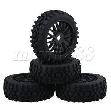 4PCS Black Plastic Y Shape Wheel Rim Rhombus Shaped Tyre for RC1:8 Buggy
