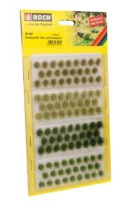 NOCH 07127 - Cespugli ciuffi d'erba assortiti verde chiaro, medio e scuro. 104 p