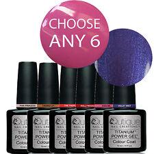 QUTIQUE Gel Nail Polish Pack/Kit/Set-ANY 6 Colours UV & LED -Salon Quality