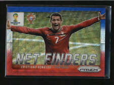 CRISTIANO RONALDO 2014 PANINI PRIZM NET FINDERS RED AND BLUE WAVE PRIZM AB5304