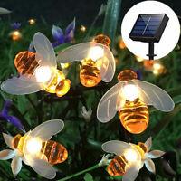 20/30/50 LED Solar String Lights Honey Bee Shape Solar Powered Garden Yard Decor