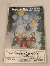 Gingham Goose Hark The Herald Angel and Caroler Dolls