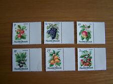 AUSTRIA,1966 FRUITS,6 VALS,U/MINT,EXCELLENT.