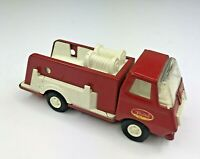 "Vintage Tonka Mini Pumper Fire Truck Pressed Steel #55250 Red & White 6"""